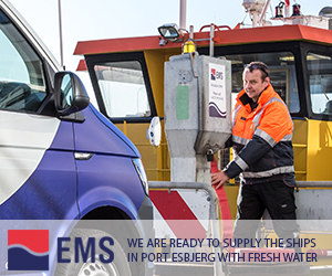 We are ready to supply the ships in Port Esbjerg with fresh water