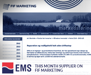 EMS is this month supplier on FIF MARKETING