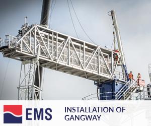 Installation of gangway